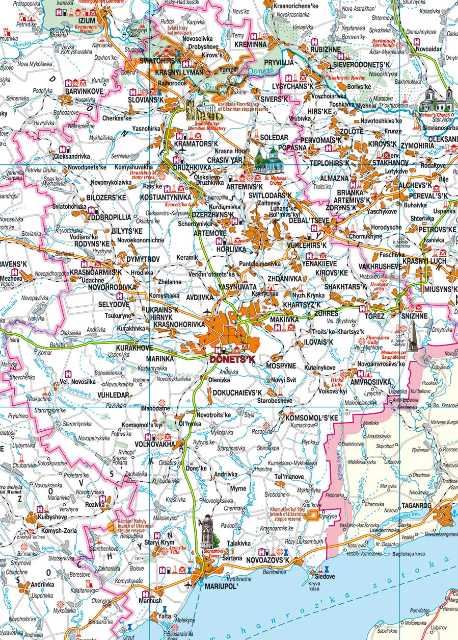 Donetsk region: a selection of sites