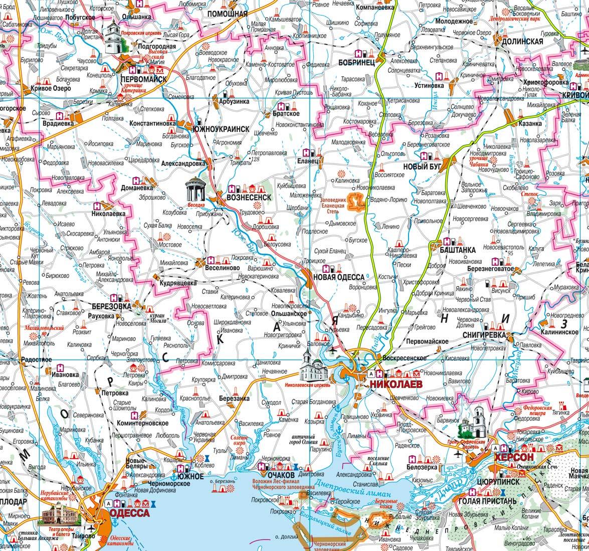 Спутниковая Карта Николаевской Области